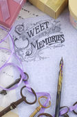 Sweet memories background — Stock fotografie