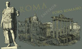 Rome view illustration — Stock Photo