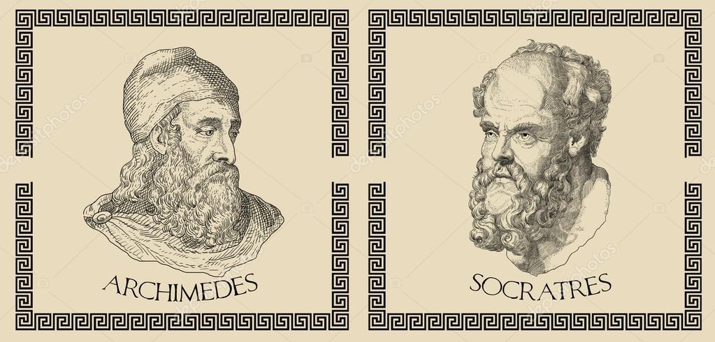 Citaten Griekse Filosofen : Oude griekse wetenschappers filosofen — stockfoto