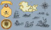 Mapa de pirata — Fotografia Stock