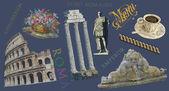 Illustration vue de Rome — Photo
