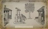 Village illustration — Stock Photo