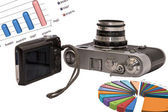 Two cameras of different generations — Stock Photo