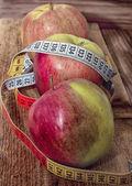 Apples, vegetarian kitchen — Stock Photo