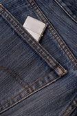 Poche de jeans avec un allume-cigare. — Photo