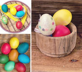 Painted eggs to the holiday — Stock Photo
