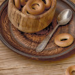 Bagels from a test — Stock Photo