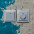 Switches on old, decrepit, to the wall — Stock Photo