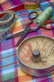 Set of seamstress for needlework — Stock Photo