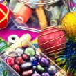 Preparation of Christmas decorations — Foto Stock