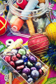Preparation of Christmas decorations — Stockfoto