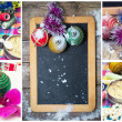 Collage Christmas decorations — Stock fotografie
