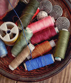 Spools of thread — 图库照片