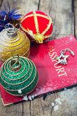 Christmas travel — Stock Photo