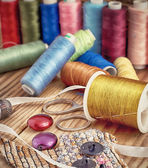 Set sewing threads — Stock Photo