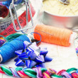 Art of weaving and embroidering — Stockfoto