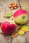Two mouth-watering apple — Stock Photo