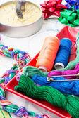 Two spools of thread — Stock Photo
