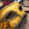 Carnival,new year's mask and decoration — Stock Photo