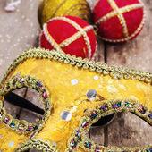 Karnaval, yılbaşı maske ve dekorasyon — Stok fotoğraf