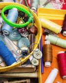 Sewing tools and facilities — Stock Photo