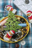Handmade Christmas symbolic toy bear — Stock Photo