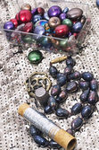 Necklaces handmade jewelry and beaded — Stockfoto