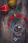 Bougie de Noël, décoration — Photo