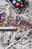 Necklaces handmade jewelry and beaded — Stock Photo