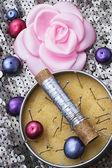 女性の裁縫師裁縫用のセット — ストック写真