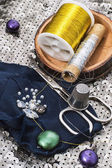 Sewing accessories and equipment — 图库照片