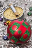 Christmas toy balloon — Stock Photo