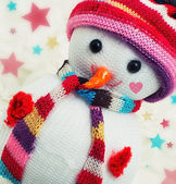 Toy-Christmas snowman — Stockfoto