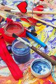 Pencils,paint — Stock Photo