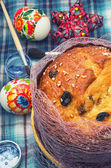 Easter homemade cakes of the dough — Stock Photo
