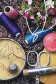 Handmade and instruments of repairman clothing — Stock Photo