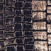 Texture of the filament manually woven — Stock Photo