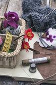 Tools sewing needlework — Stock Photo