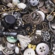 Stock Photo: Texture of old buttons and buckles