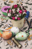Preparation Easter decorations — Stock Photo