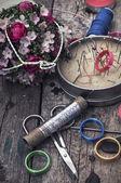 Instruments of repairman clothing — Stock Photo