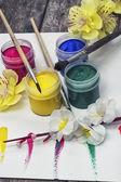 Farben für die malerei — Stockfoto