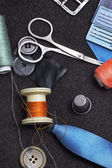 Sewing tools and accessories — Stock Photo
