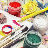 Paints for painting — Stock Photo