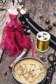 Seamstress for needlework — Stock Photo