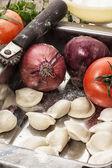 Ukrainian dumplings — Stock Photo