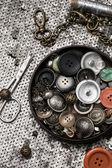 Botones y cremallera — Foto de Stock