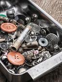 Bottoni e cerniera — Foto Stock