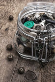 Buttons and zipper — Stockfoto