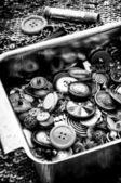 Old sewing tools — ストック写真